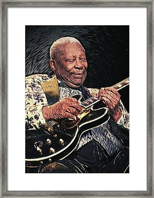 B.b. King II Framed Print