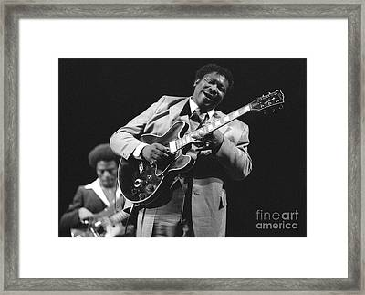 Bb King In Love With Lucille Framed Print by Philippe Taka