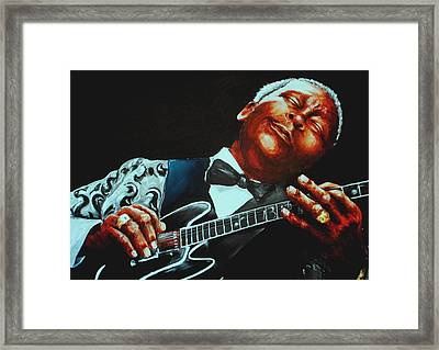 Bb King Of The Blues Framed Print by Richard Klingbeil