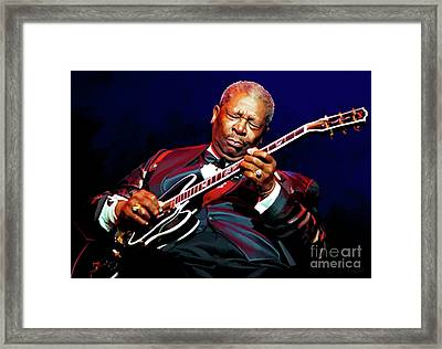 Bb King Framed Print by Paul Tagliamonte