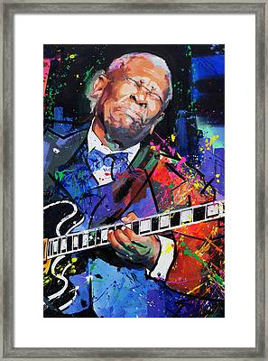 Bb King Portrait Framed Print by Richard Day