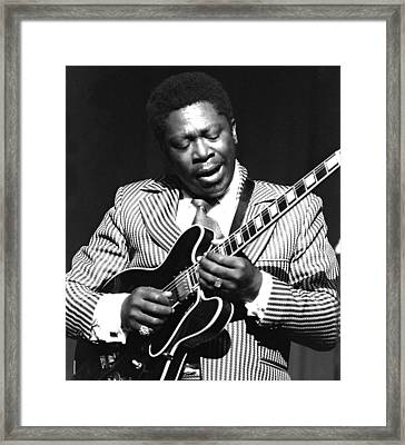 Bb King - Strummin' Framed Print