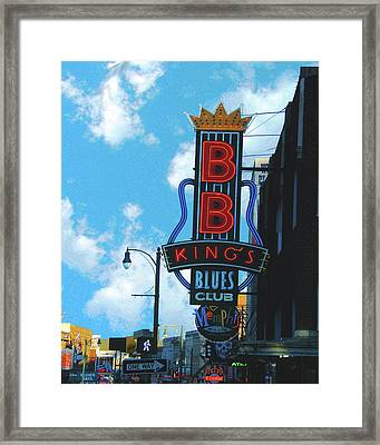 Bb Kings Framed Print