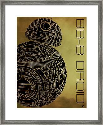Bb8 Droid - Star Wars Art - Brown Framed Print