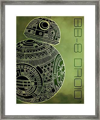 Bb8 Droid - Star Wars Art - Metallic Framed Print