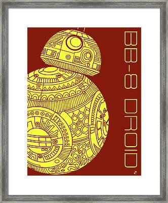 Bb8 Droid - Star Wars Art Framed Print