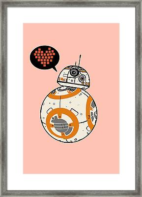 Bb8 Love Pink Framed Print by Nicole Wilson