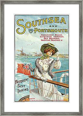 Southsea And Portsmouth Framed Print by John Hutton Walker