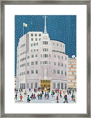 Bbc's Broadcasting House  Framed Print by Judy Joel