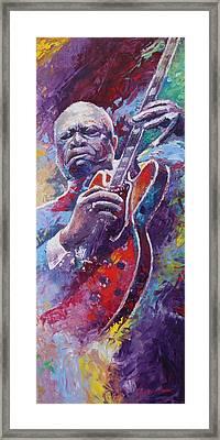 B.b.king 2 Framed Print by Yuriy Shevchuk