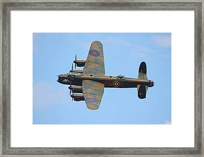 Bbmf Lancaster Bomber Framed Print by Ken Brannen