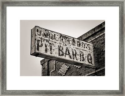 Bbq Leftover Framed Print