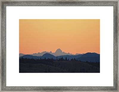 B C Dawn Framed Print