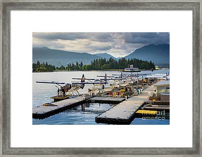 Bc Seaplanes Framed Print by Inge Johnsson