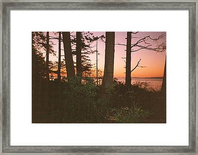 Bc Sunset Photograph Framed Print by Kimberly Walker