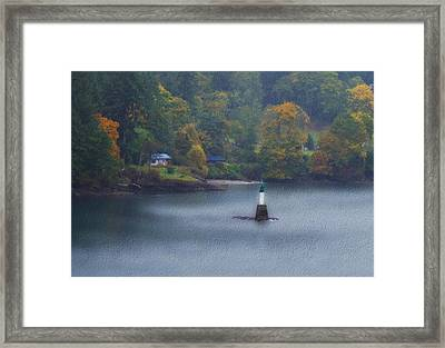 Bc Waterfront Home Framed Print