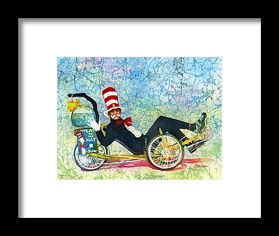 Cat In The Hat Framed Prints