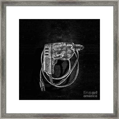 Bd Drill Motor Bw Framed Print by YoPedro