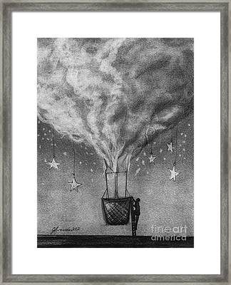 Be A Traveler Framed Print by J Ferwerda