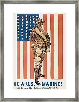 Be A U.s. Marine Framed Print