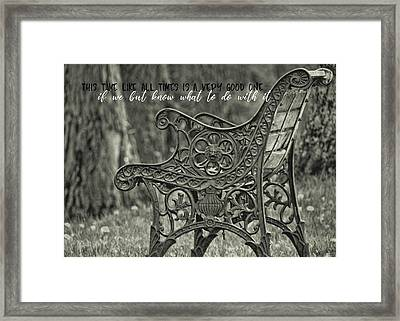 Be Aware Quote Framed Print by JAMART Photography