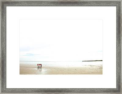 Framed Print featuring the photograph Be Back Later by Sandy Adams