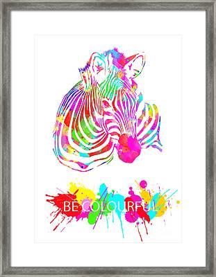 Be Colourful Framed Print by Prar Kulasekara