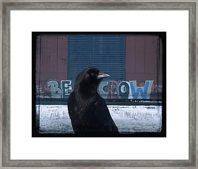 Be Crow Framed Print