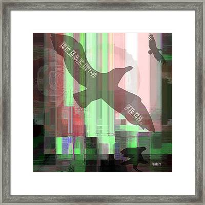Framed Print featuring the painting Be Free by Fania Simon
