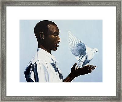 Be Free Three Framed Print by Kaaria Mucherera