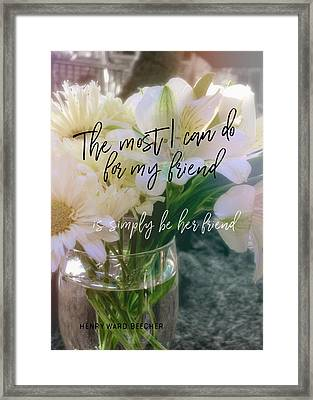 Be Gentle Quote Framed Print by JAMART Photography