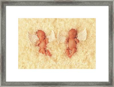 Be Gentle With The Young Framed Print