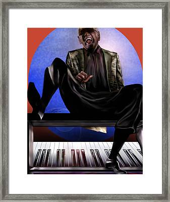 Be Good To Ya - Ray Charles Framed Print by Reggie Duffie