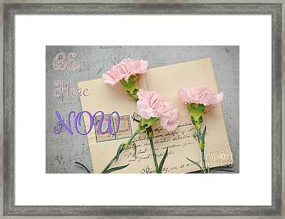 Be Here Now Framed Print by Lulu Escudero