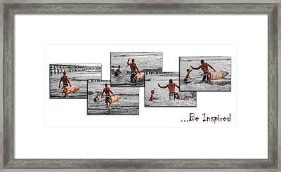 Be Inspired - Pano White Framed Print