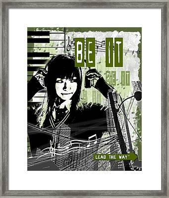 Be It - Green Framed Print by Melissa Smith