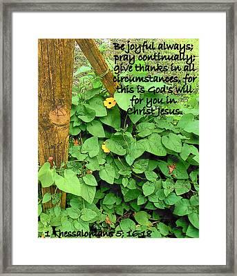 Be Joyful Framed Print