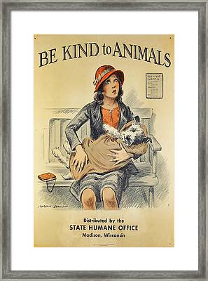 Be Kind To Animals 4 Framed Print