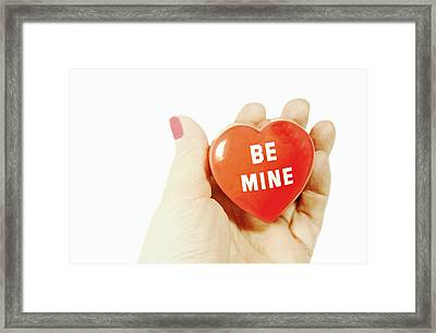 Be Mine Framed Print by Diana Angstadt