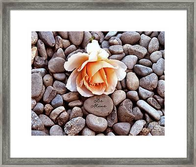 Be Mine  Framed Print by Diane E Berry