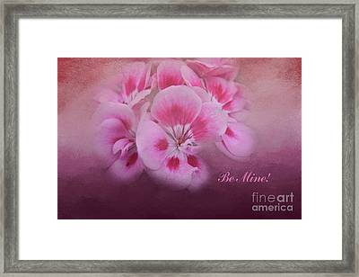 Be Mine Framed Print by Joan Bertucci