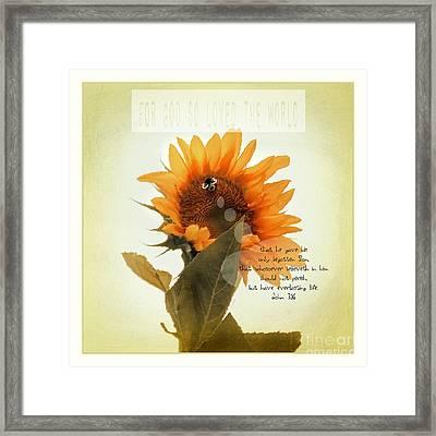 Be Mine Paint - Verse Framed Print by Anita Faye