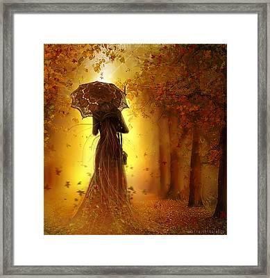 Be My Autumn Framed Print by Amalia Iuliana Chitulescu