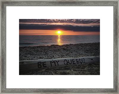Be My Queen Framed Print by Cale Best