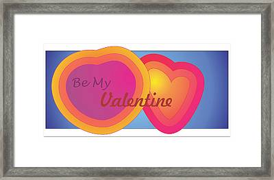 Be My Valentine Card Framed Print