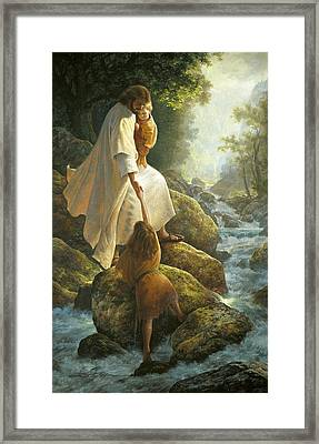Be Not Afraid Framed Print by Greg Olsen