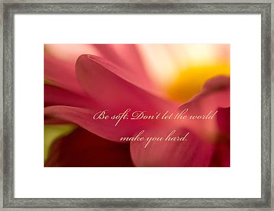Be Soft Framed Print