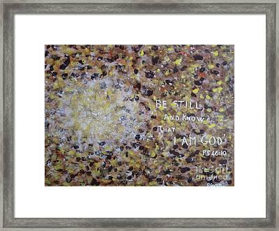 Be Still Framed Print by Piercarla Garusi