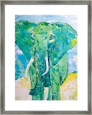 Framed Print featuring the painting Be Strong by Chris Rice