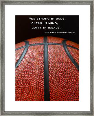 Be Strong Framed Print